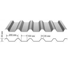 Профнастил оцинкованный НС-44 0.5x1000x6000
