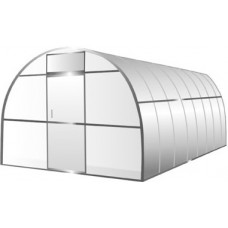 Теплица из поликарбоната сотового # 4, каркас из профильной трубы 20х20