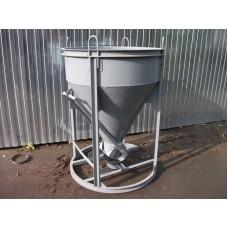 Бадья для бетона БН-0,5 (рюмка), с лотком и воронкой