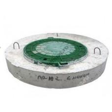 Крышка бетонная для колодца ПП-10 с полимерным люком