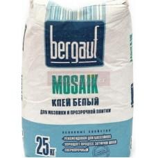 Клей для плитки Bergauf Mosaik белый, 25кг