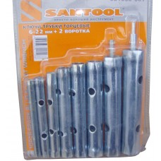 Ключи-трубки торцевые Santool (6шт+2воротка)