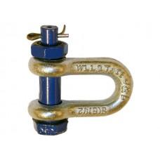 Скоба такелажная оцинкованная прямая тип G 2150 (болт-гайка)