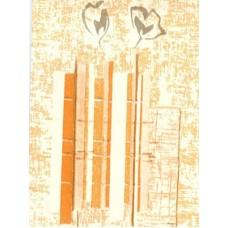 панель пвх цвет-№ 112 - Золотой янтарь ширина-25см длина-270см