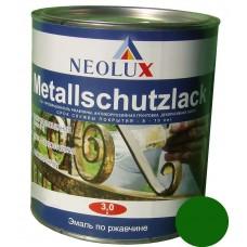 Эмаль по ржавчине Неолюкс зеленый (3л)