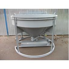 Бадья для бетона БН-1,5 (рюмка), низкая с лотком
