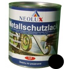 Эмаль по ржавчине Неолюкс черная (3л)