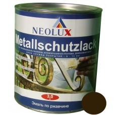 Эмаль по ржавчине Неолюкс коричневая (1л)