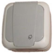Vi-ko /КРЕМ/ розетка с крышкой наружний брызгозащищенный