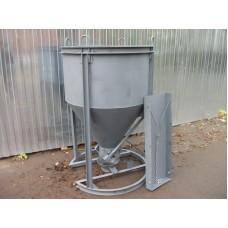 Бадья для бетона БН-1,0 (рюмка), с лотком и воронкой