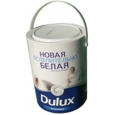 Краска белая матовая Dulux для стен и потолков (5кг)