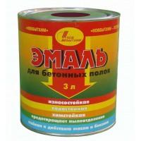 Эмаль для бетонных полов (красно-коричневая) 3л