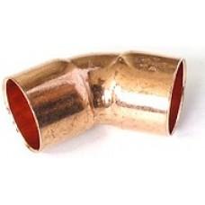 Угол (отвод) медный под пайку 45гр 15-15