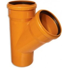 Тройник 160-110х45гр (для наруж канализации)