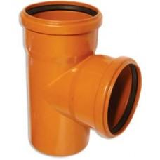 Тройник 110-110х90гр (для наруж канализации)