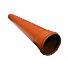 Труба с раструбом ПВХ d=110 мм L=5000 мм (для наружной канализации)