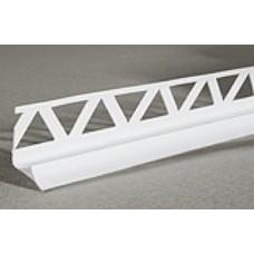 Уголок внутренний для плитки, 2.5м (белая)